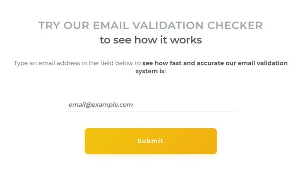 Email validation checker